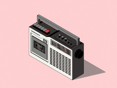 Radio vector radio illustration isometric