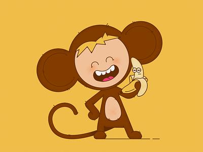 Monkey flat monkey animals 2d illustration character character design