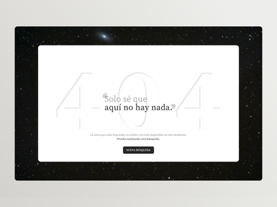 Maratón UI #4 - 404 Page webdesign art userinterface typography ux ui design