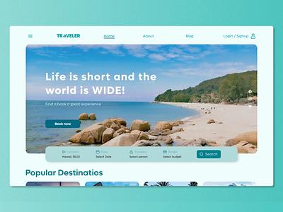 Maratón UI #6 - Landing Page dailyui3 dailyui uidesign userinterfacedesign travelagency travel webdesign web ui design