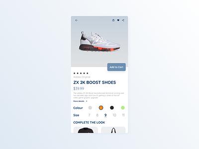 Maratón UI #9 - Single Product webdesign graphic design ux shoes userinterface uidesign app appdesign singleproduct dailyui12 dailyui ui design