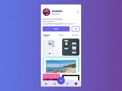 Maratón UI #11 - User Profile appdesign uidesign workapp portfolio userprofile userinterface ui app design dailyui06 dailyui