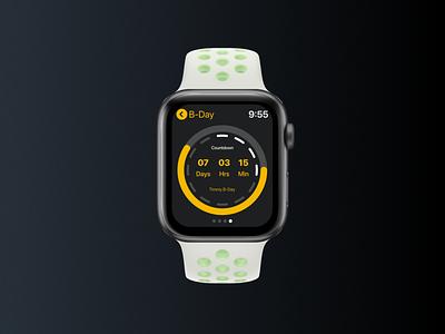 Daily UI #14 - Countdown userinterfacedesign userinterface design uidesign appdesign applewatch countdown daylui14 dailyui