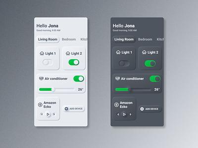Daily UI #21 - Home Monitoring userinterfacedesign design neumorphism dailyyu021 userinterface uidesign dailyui ui