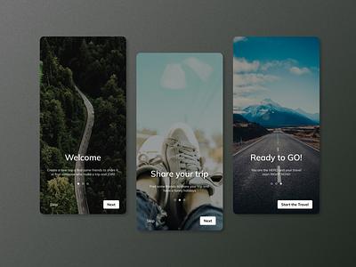 Daily UI #23 - Onboarding ux ui appdesign userinterface uidesign roadtrip apptrip dailyui023 dailyui
