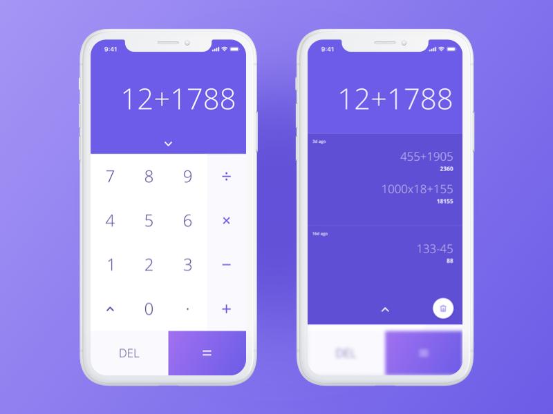 Calculator App by Aryan Manalai on Dribbble