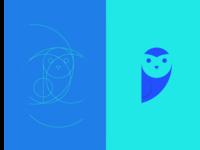 Owl minimalist logo