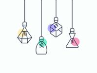Lighting line icons