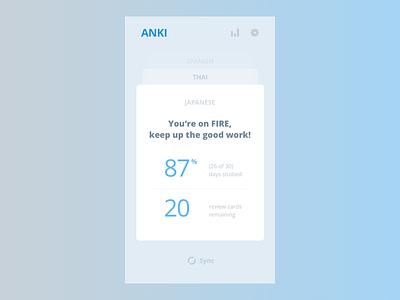Anki App - Home deck cards study anki 52week design flat app mobile ios
