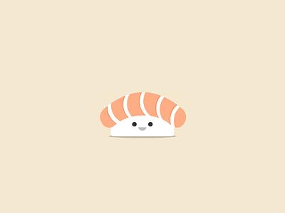 Baby Salmon Sushi fish salmon sushi sashimi queen illustration icon