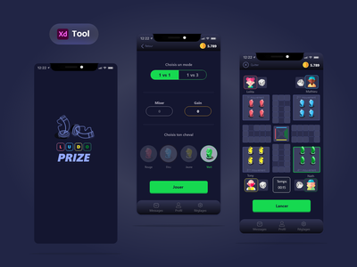LudoPrize Game App 🔥 FREEBIE winner money interactive player reward bet gameplay adobe xd green playful logo ux ui colors app mobile prize ludo design game