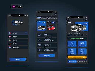 Otokar gps bus booking taxi blue dribbble public transit public transportation transportation android ios app design design uiux dashboard vehicle