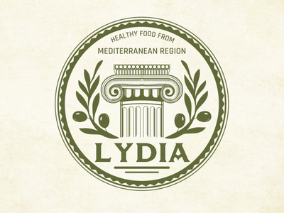 Lydia Logo Design olive law hand drawn branding vintage sketch logo artwork