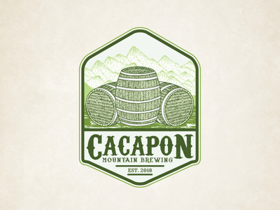 Vingate Logo Design of Cacapon Mountain Brewing.