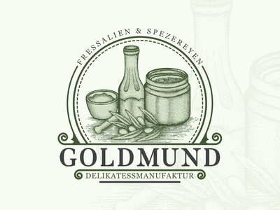 Goldmund Hand Drawn Logo Design