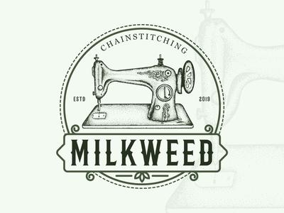 Milkweed Vintage Logo Design