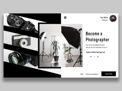 Website design ui/ux - Photography