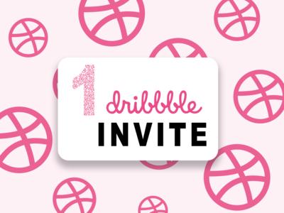 1 Dribbble invite - Design invitation