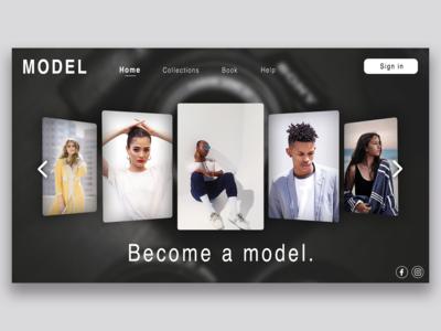 Website Design - Fashion and model