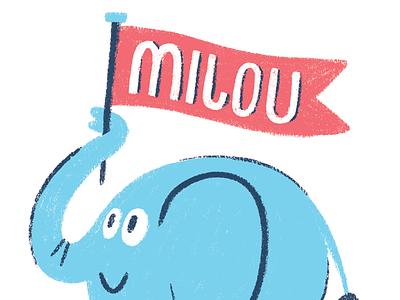 Elephant Friend character animals illustration