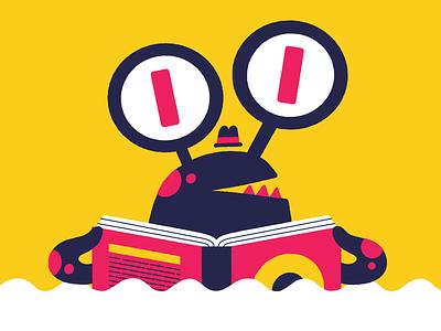 Reading Monster books festival identity character illustration monster