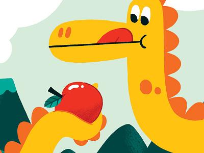 Jurassic Munch product design dinosaur illustration