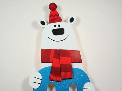 Polar Bear Wall Light / Coat Rack