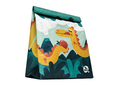 Jurassic Munch lunchbox reusable enviroment productdesign dino illustration