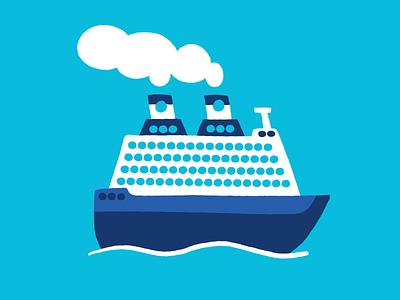 Cruise Ship transportation boat illustration