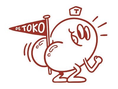 More Toko fun character character design branding illustration