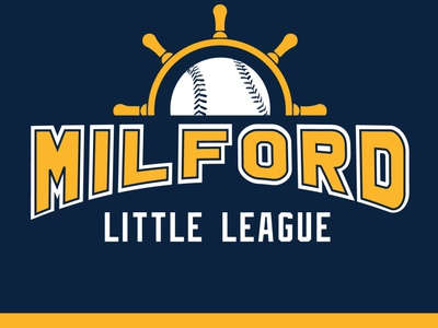 Milford Little League alternate logo for embroidery secondary logo cap design baseball logo embroidery design