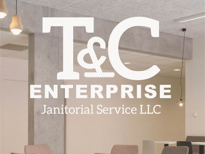 T and C Enterprise logo logo design cleaning company logo janitorial service logodesign