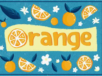 Orange illustration branding graphic design