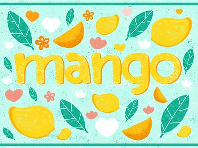 Mango illustration graphic design branding typography illustration