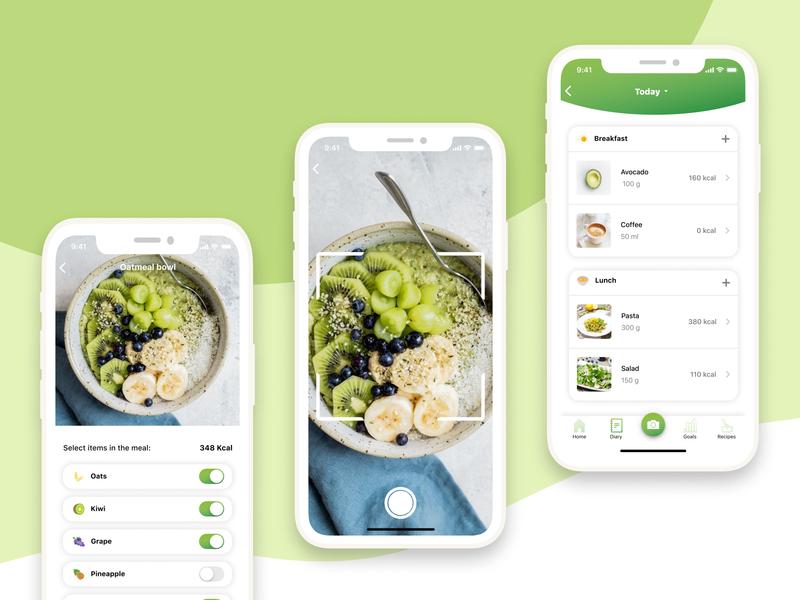 iOS Mobile App - Food identifier recipe food product design mobile app design mobile app iosx app design application uiux ui mobile ios app