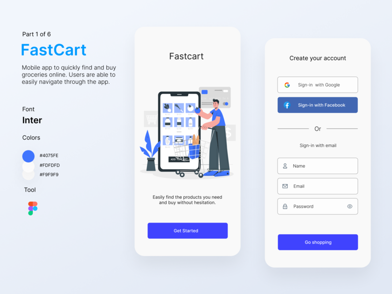 FastCart - Delivery App online shop delivery service delivery app app app design mobile app design mobile app user interface uidesign