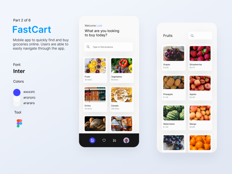 FastCart - Delivery App delivery service delivery app delivery design ui app app design mobile app design mobile app user interface uidesign
