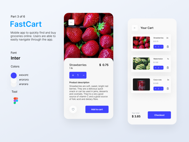 FastCart - Delivery App delivery app delivery service ui app design mobile app design mobile app user interface uidesign