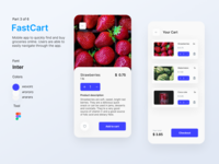FastCart - Delivery App delivery app delivery service ui app design mobile app design mobile app user interface uidesign