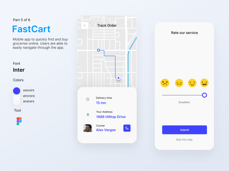 FastCart - Delivery App product design delivery service delivery app ui app app design mobile app design mobile app user interface uidesign