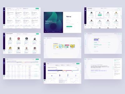 STOKE Platform Screens search form process product design hire profile talents talent hr system gradient cards product data dashboard app interface design ux ui