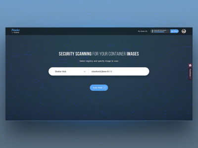 Peekr Search Screen data ux ui pagewebsecurity barscanlanding search