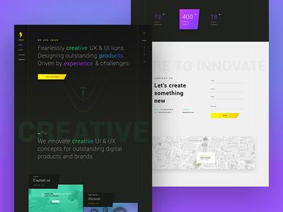 INKOD Website product creative interface profile agency cards gradient ui ux design