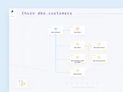 Model Creation Tool canvas connection concept node model color clean logo icon machine learning gradient cards product app data dashboard interface design ux ui