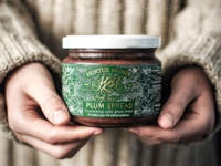 Label for a plum spread