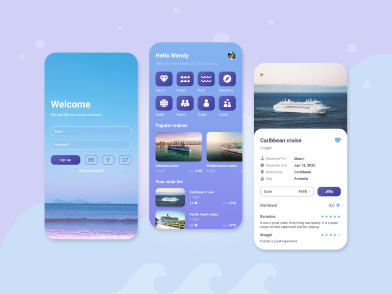 Cruise Travel app