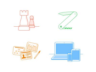 Icon Set chess strategy usability devices rantmedia ui design illustration icons