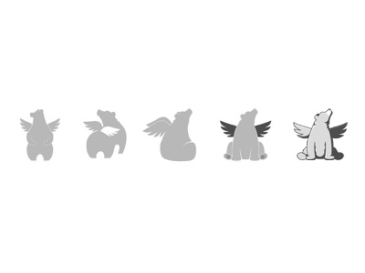 Logo Progression wings bear illustrator progression rantmedia branding logo