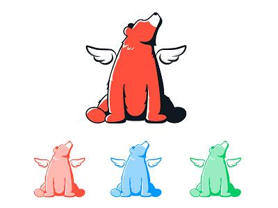 Eaglebear Mascot illustrator colours branding logo rantmedia wings bear eaglebear