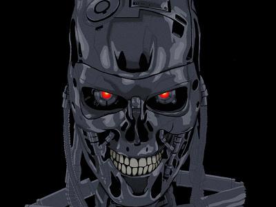 T-800 terminator 2 apple pencil ipad pro procreate illustration robot terminator